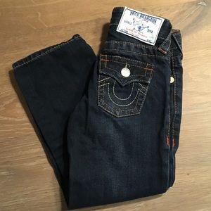 EUC True Religion Jeans toddler girls size 4T